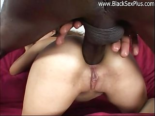 Impressive anal penetration by big black cock