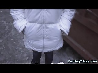 Petite brunette russian casting beauty