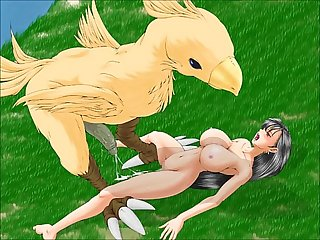 Tifa lockheart x chocobo monsters tentacles final fantasy