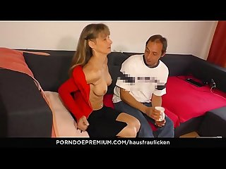 HAUSFRAU FICKEN - Mature wife loves riding and blowing meaty dicks