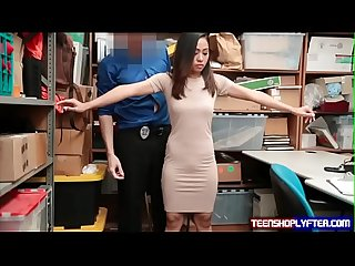 Petite Asian Shoplyfter Stripped Naked And Searched Deep