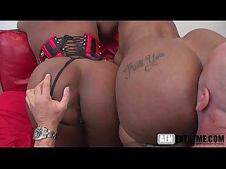 Black girls sucking his white cock