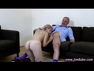 Older guy younger girl suck and fuck