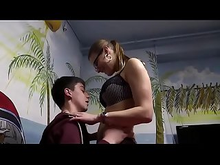 Hot german milf in stockings fucks a young boy watch Part2 on porn4us org