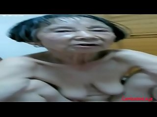 Amateur Asian granny 80 years old