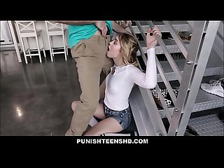 Blonde tiny teen thief anastasia knight punish fucked by neighbor for stealing his stuff