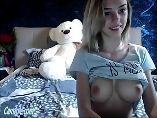 Adorable cam teen with big firm tits Ohmibod play camjoie period com