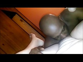 Wife gets her pussy eaten out by a black guy