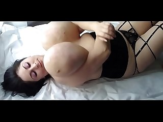 Alice 85jj huge naturals laying on bed