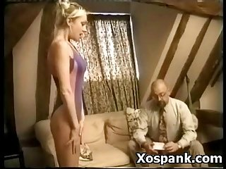 Wild pervert spanking chick fetish porn