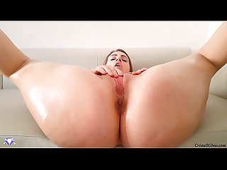 Hard fuck big oiled ass milf closeup cristall gloss