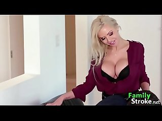 Bombshell Mom Eating Son Jizz: FamilyStroke.net