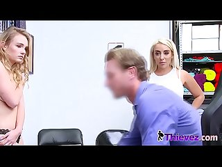 Mom and d. are getting fucked by a horny cop at his office.