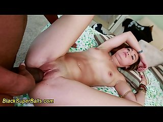 Asian slut sucks big dick