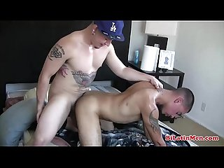 Tatted latin thug fucking his tight thug bottoms asshole