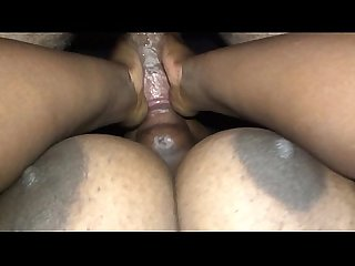 Candi Neman Gives Upside Down Blowjob