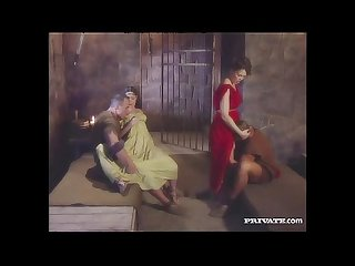 Cleare and jyulia comma dp orgy with the gladiators in the cell