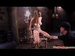 Bdsm sub spanked with stick before toying