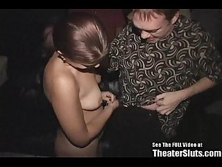 Single mom gang banged in porno theater