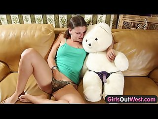 Girls out west amateur cutie fucking a teddy Bear