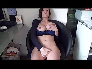 Hot busty brunnette fingers herself