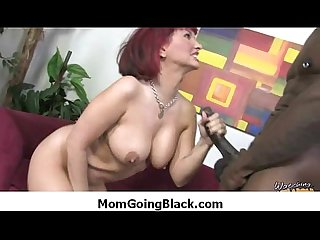 Hot MILF gags and gets banged by a black cock 5