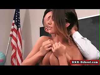 Big boobs fucked at school by student and teacher 08