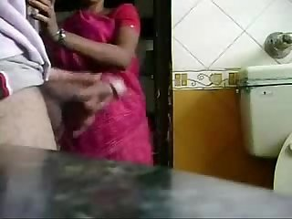 Caught jerking by my maid period she is interested