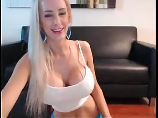 Busty Blonde Fashion Show on Cam -tinycam.org