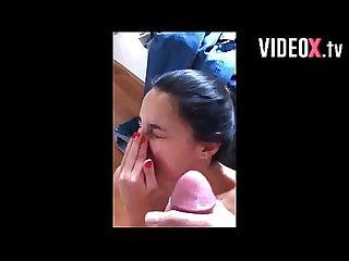 Cumshot compilation teen amateur blowjob facial