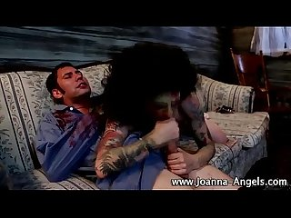 Zombie goth joanna angel sucks on cock
