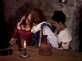 Two hot servants fucking in historic dress