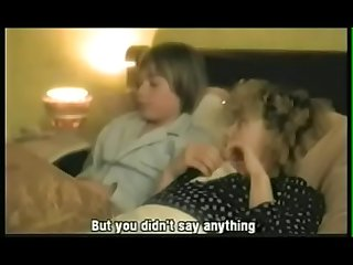 Mom son family porno in vintage movie clip