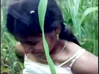 Indian Girl in forest getting naked with infront of 2 guys