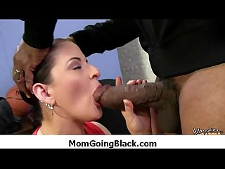 Hot milf gags and gets banged by a black cock 4