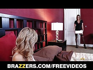 HOT blonde MILF is caught & fucked in shower by her GF