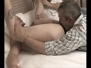 Two friends eat Straight boy pussy