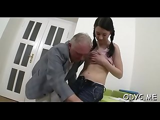 Slender amateur slut gets licked and rides an old dong wildly