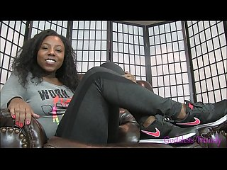 Ebony foot sweat fetish Joi