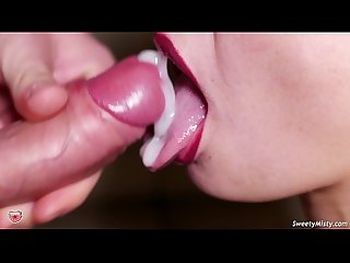Teen Blowjob and Cum in Mouth Closeup