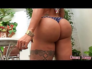 Big ass shemale isabelly ferreira dildo masturbation