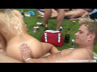 Amateur massive open air orgy