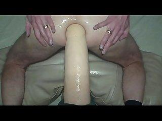 Huge homo gigantus dildo gay anal cum