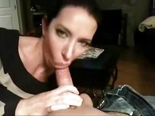 Cute girl milks his cock dry