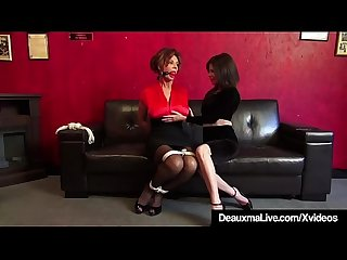 Mature Cougars Deauxma & Ashley Renee Bound & Ball Gagged!