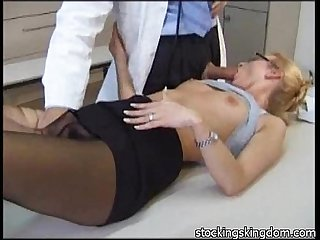 Nylon sexy Receptionist fetish
