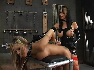Alektra Blue and Amy Ried - Strap-On Slave