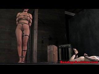 BDSM sub Penny Barber clit shocked