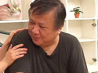 Mature asian housewife and husband making hot sex