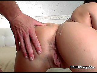 Horny milf lara gets fucked and cum all over her ass